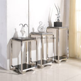 家具はパターンを切り分ける陳列台2つの層のステンレス鋼の花のカスタマイズした