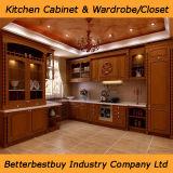 新しいデザイン純木の食器棚