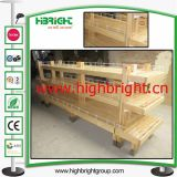Supermarket Wooden Wagon Cart Design Panela de padaria