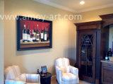 Ручной работы до сих пор жизнь бутылок вина картины маслом для дома украшения