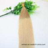 고품질 중간 브라운 색깔 단 하나와 두 배 유럽 인간적인 Virgin 머리 당겨 나는 머리 연장을 기울인다