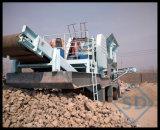 Diesel di pietra mobile del frantoio a mascella, frantoio per pietre mobile, macchina portatile del frantoio della roccia