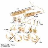 9pcstassel Oorringen van de Kleur van de driehoek de Uitstekende Zilveren voor de Juwelen van Vrouwen