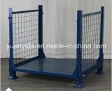 Conteneurs empilables se pliants de boîte à palette de maille en métal pour des cages d'acier d'entrepôt