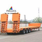 Transporte de la excavadora cargadora Lowbed semi remolque cama baja