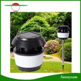Petite lampe ronde à LED solaire Lampe solaire à lumière solaire Lanterne solaire anti-moustique Lumière de cheminée solaire