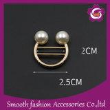 Мода Без шарфа преднатяжитель плечевой лямки ремня Pearl декоративные кнопка иглы контакт Brooch аксессуары для одежды