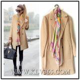 Europäische Entwurfs-Frauen-Dame-Form-Winter-Wolle-langer Mantel