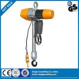 palan électrique à chaîne de type F de type F avec crochet