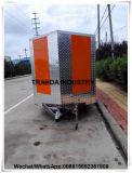 BBQ Rotisserie van de Grill van het gas de Vrachtwagen van het Voedsel van de Aanhangwagen van de Kip met Venster