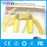 3.5mm bis 3.5mm das elastische Audiostereokabel abnehmen