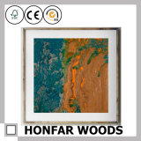 نوع خيش تجريديّ زخرفة فنية صورة زيتيّة مع إطار خشبيّة