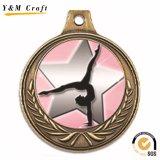 Alliage de zinc métal personnalisée Prix Médaille de danse avec Ruban (M011)