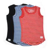 Camiseta del cabrito merino de las lanas del diseño el 100% de la manera para el verano