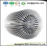 L'alluminio del girasole del materiale da costruzione del rivestimento della polvere profila il dissipatore di calore