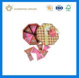 El rectángulo del conjunto del regalo del chocolate imprimió con colores completos