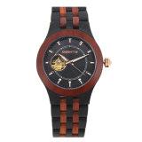 Soem brandmarken Ihre eigenen automatischen Uhr-Leder-Armband-Männer hölzerne Uhren