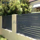Cerca de alumínio horizontal do Slat para o jardim