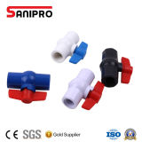 Vario PVC plástico de la vávula de bola de la maneta hecho en China