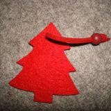 レーザーの切口のフェルトのクリスマスの球党旗布のフラグのフェルトの装飾