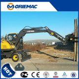 China Precios baratos Mini Excavadora de ruedas de 6 Ton.
