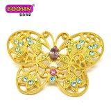 中国の製造者の安い卸し売り合金の蝶磁気人工的なブローチ