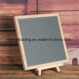 Panneau en bois de lettre de feutre de bâti de hêtre de taille faite sur commande