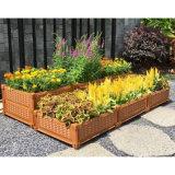 プランター植木鉢の上げられた庭のベッドが付いているスタック可能陶磁器の鍋
