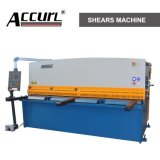 Торговая марка Accurl гидравлические машины резки металла QC12y-4X2500 E21 для резки листа Meta пластину