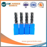 4 Herramienta de corte de carburo de flautas de molinos de cierre estándar