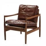 イタリア様式型木製フレームのオフィスの革肘掛け椅子
