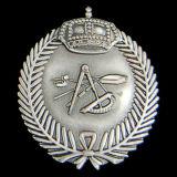 Oro che antico in lega di zinco del distintivo del collare polizia militare del metallo dell'esercito americano Badge (CB40417)