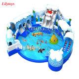 Ce, piscina de la diversión de Platón con el parque temático inflable del agua de la diapositiva de agua