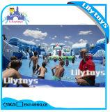 Ce, Platón, piscina con tobogán acuático de diversiones parque temático de agua inflable