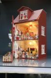DIY Wooden Doll House with Aurora' S Coils for Kids
