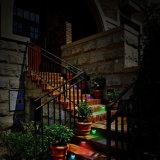 7 сменные цвета RGB светодиодный индикатор питания солнечной энергии на открытом воздухе Ограждение желоба крыши сад настенный светильник путь освещения