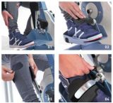 Attrezzo ginnico del pedale del piedino e del braccio