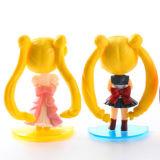 Figura plástica decorativa promocional juguete de Sailor Moon para los cabritos