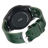 Correa de reloj del cuero genuino de la alta calidad de la manera para la venda de reloj de Samsung S3