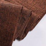 Tela 100% del poliester del diseño de lino para la tapicería de los muebles del sitio
