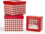 ورق مقوّى طباعة صندوق لأنّ عيد ميلاد المسيح, هبة ورقيّة يعبر صندوق مع نافذة