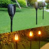 Lumière solaire de flamme de DEL pour l'horizontal décoratif de nuit de pelouse de jardin