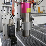 Máquina de estaca de oscilação da tira de couro da faca das gaxetas azuis da borracha de espuma do CNC 3D do CNC 2030 do elefante com preço de fábrica para a caixa