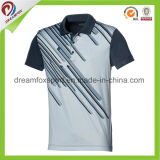 2017 New Design Dry Fit Custom Sports Running Polo Shirt para homem