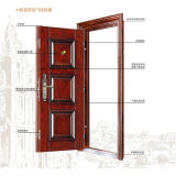 Sola puerta de lujo de acero del nuevo diseño 2017 para la puerta casera