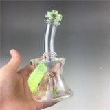 Plataformas petrolíferas de vidro da tubulação de água do projeto da garganta da torção para fumar