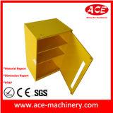 Шкаф металлического листа картины желтого цвета пластичный