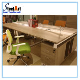 Mobiliário de escritório 4 pessoas a Partição de madeira do Compartimento