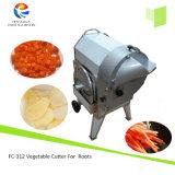 입방체 절단기를 갈가리 찢는 FC-312 근채류 감자 토마토 당근 오이 저미는 기계