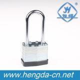 Yh9110 Master de clé de verrouillage du fer Métal laminé Cadenas en laiton à usage intensif